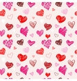 Love pattern texture vector image vector image