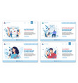 medical professional consultation landing page set vector image vector image