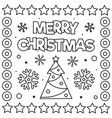 merry christmas coloring page black and white vector image