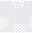 modern seamless pattern with dots transition vector image