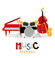 music festival background with color vector image vector image