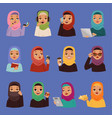 muslim religious arabic adult women in vector image