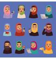 muslim religious arabic adult women vector image