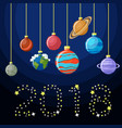 new year decorative greeting card with solar vector image vector image