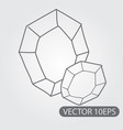 piece of coal icon black and white outline drawing vector image