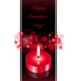 romantic background with red candle vector image vector image
