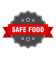 safe food red label safe food isolated seal safe vector image vector image
