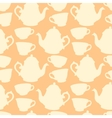 Seamless pattern with decorative cups and teapots vector image vector image