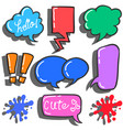 set of bubble text various style vector image vector image