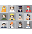 Set of icons of male profession for women vector image