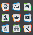 set simple newspaper icons vector image