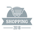 shopping logo simple gray style vector image vector image