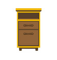 small wooden bedside chest vector image