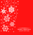 snows hanging red vector image vector image