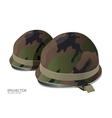 soldier helmet vector image