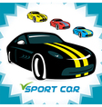 Sport Cars Icons vector image vector image