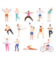 sport people men and women exercise workout vector image vector image