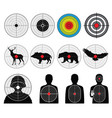 targets for shooting with silhouette man and vector image