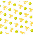tennis ball and trophy vector image