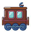 three wheel wagon icon cartoon style vector image vector image