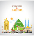 travel background with landmarks malaysia vector image vector image