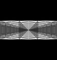 triple tunnel with transparent walls long vector image