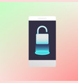 unlocked smartphone luminous padlock vector image