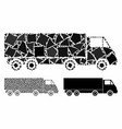 wagon composition icon rugged elements vector image vector image