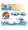 Waves in japanese style vector image vector image