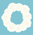 white rose flower wreath vector image vector image