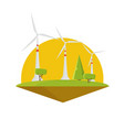 Wind energy power turbine electricity flat design