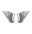 wings in tattoo style isolated on white vector image vector image