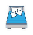 wooden bed with pillow blanket furniture room vector image