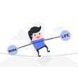 work life balance concept vector image vector image