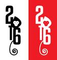 year monkey 2016 vector image vector image