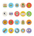 Business and Office Colored Icons 13 vector image