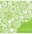 abstract green and white circles frame corner vector image vector image