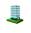 an urban scene featuring a high rise condominium vector image vector image