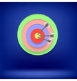 Arrow Hit Right on Target Achieving Goal vector image