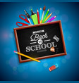 back to school design with colorful pencil eraser vector image