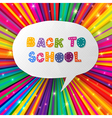 back to school words in speech bubble on colorful vector image vector image