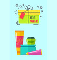 best sale headline cosmetics vector image
