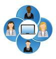 business network vector image