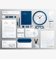 business stationery set in wireframe diagram vector image vector image