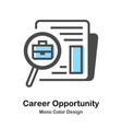career opportunity mono color vector image