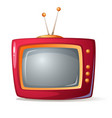 cartoon red tv shadow and glare vector image vector image
