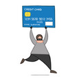 cartoon thief hacker man with face masked running vector image