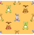 Cat dog and rabbit background pattern