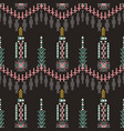 colorfull aztec seamless pattern on dar vector image