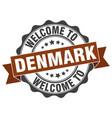 denmark round ribbon seal vector image vector image